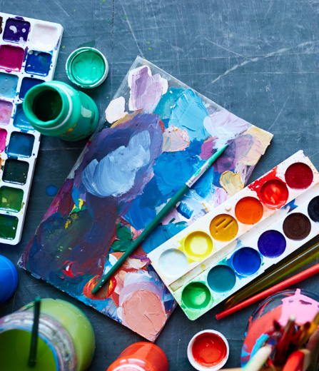 Art materials for Artbeatz creative experience